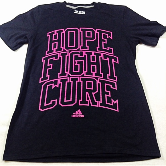 2b59f8ca1a444f adidas Tops   Hope Fight Cure Breast Cancer Awareness Top   Poshmark